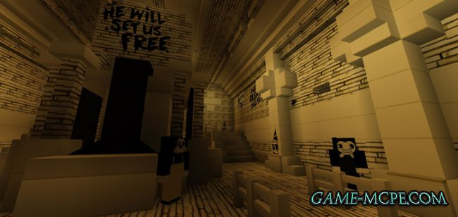 Карта Bendy Game Horror [Приключения] для Minecraft PE (1.2.13/1.2)